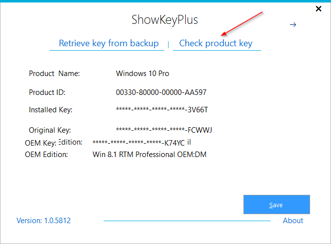 Check version and edition of Windows a product key belongs to pic1