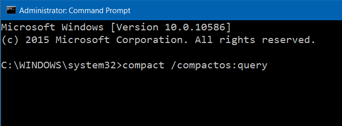 Compress Windows 10 installation files and folders step2