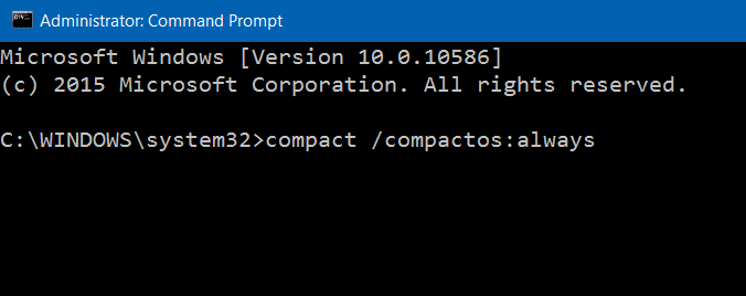 Compress Windows 10 installation files and folders step3