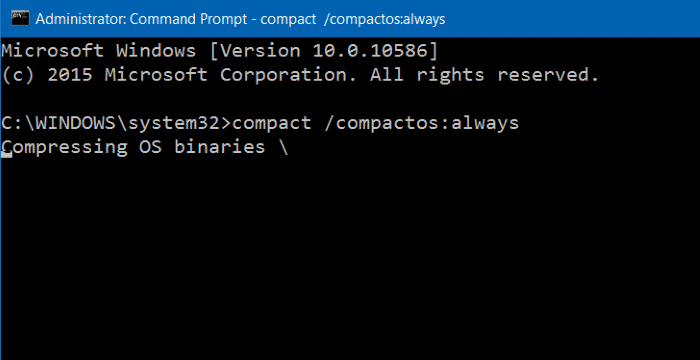 Compress Windows 10 installation files and folders step4