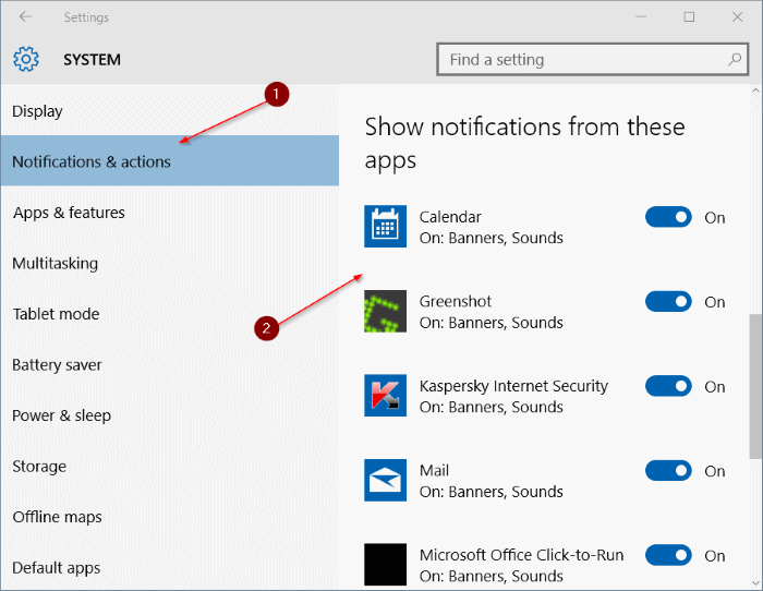 Disable Notification Sound in Windows 10 step3