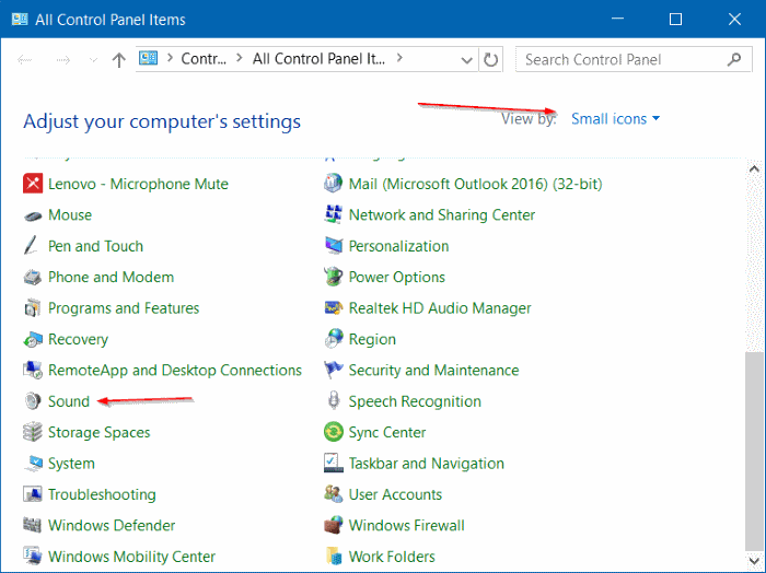Disable Notification Sound in Windows 10 step6