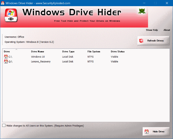 Hide Recovery Partition In Windows 10 step10