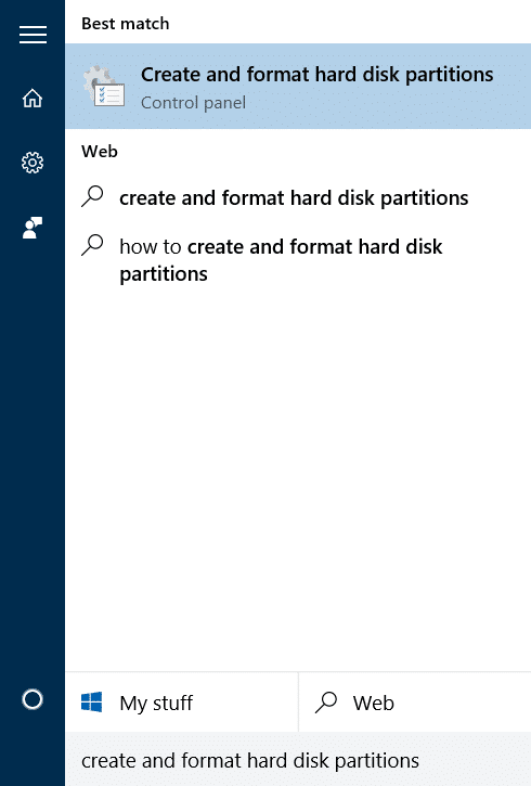 Hide Recovery Partition In Windows 10 step1