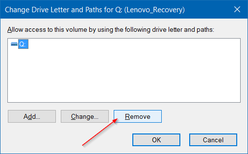 Hide Recovery Partition In Windows 10 step4
