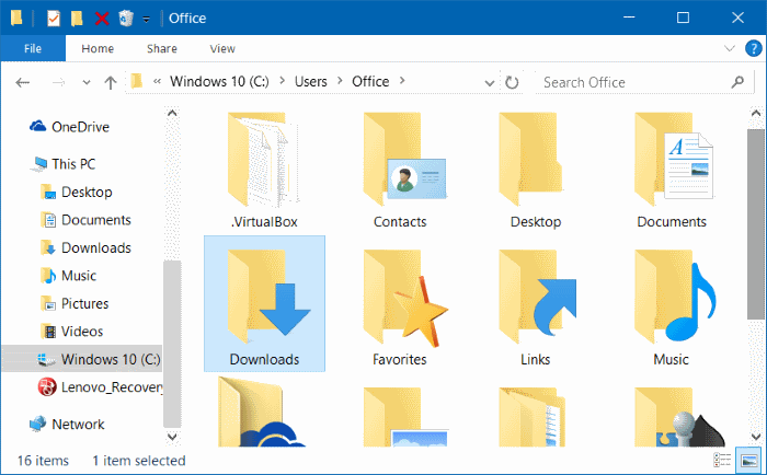 Move downloads and desktop folders to another drive in Windows 10