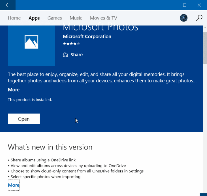 Reinstall Photos app in Windows 10 step 11
