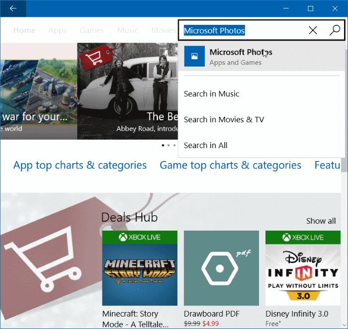Reinstall Photos app in Windows 10 step 6