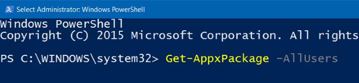 Reinstall Photos app in Windows 10 step2
