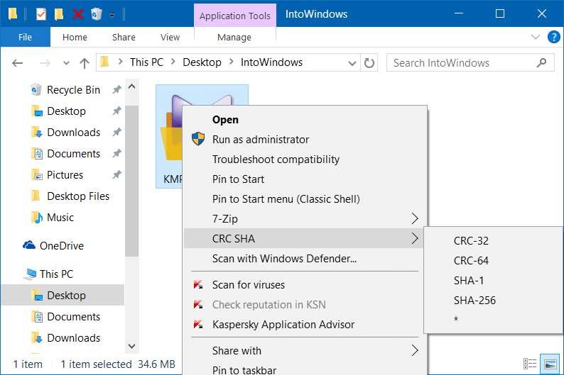 Remove CRC SHA from context menu in Windows pic1