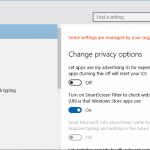 """Remove """"Some Settings Are Managed By Your Organization"""" Message In Windows 10 Settings"""