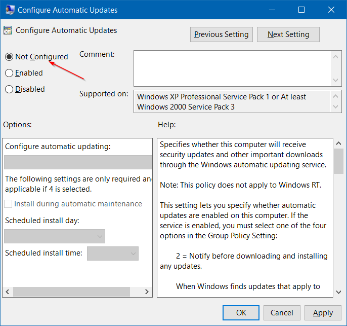 Some settings are managed by your organization in Windows 10 step2