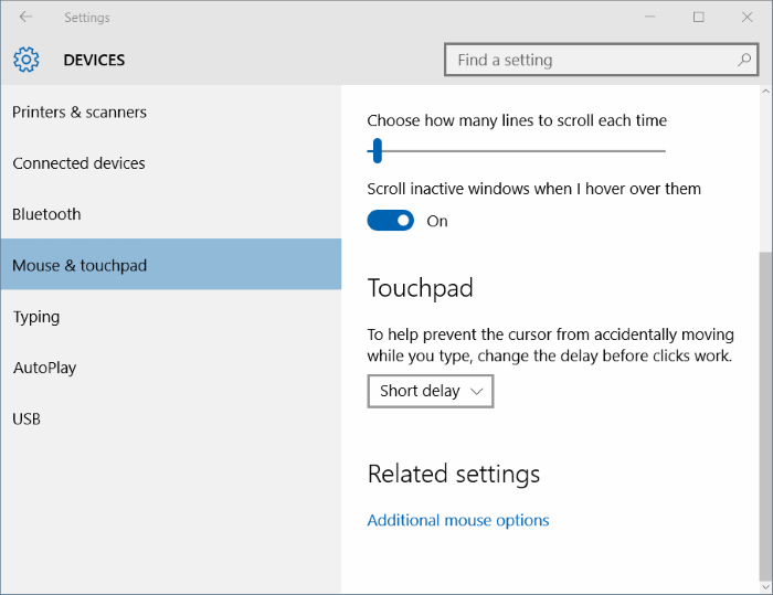 How To Turn On Or Off Touchpad Gestures In Windows 10
