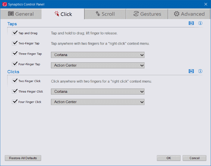 Turn on or off touchpad gestures in Windows 10 pic8
