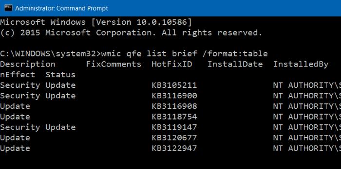Uninstall an update in Windows 10 step7