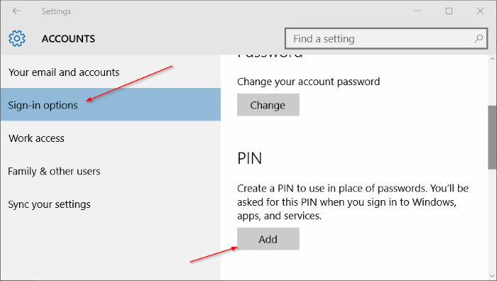 Use PIN to sign into Windows 10 (3)