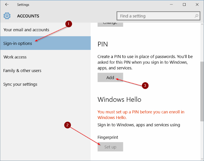 Use fingerprint to sign in to Windows 10 (4)