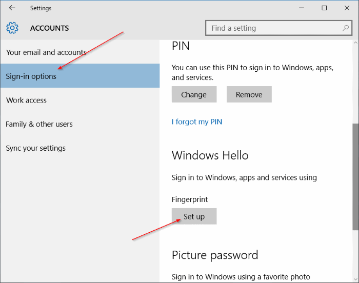 Use fingerprint to sign in to Windows 10 (5)