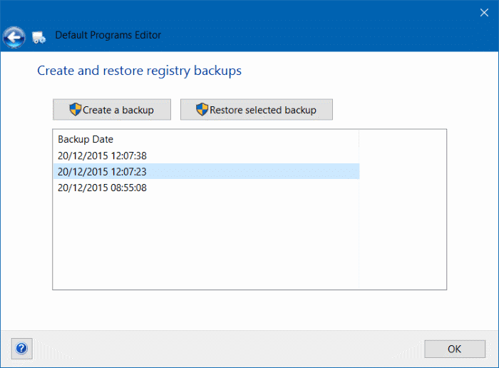 backup and restore file association in Windows 10 pic1 (3)