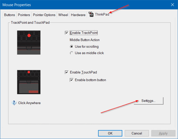 change touchpad scroll direction in Windows 10 step2