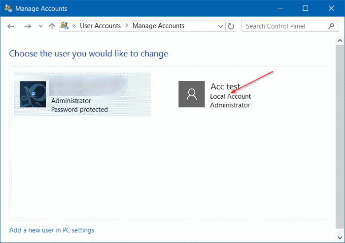 windows 10 how to add an user account