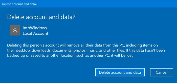 delete user accounts in Windows 10 pic02