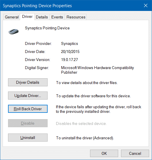 fix to touchpad not working in Windows 10 pic4