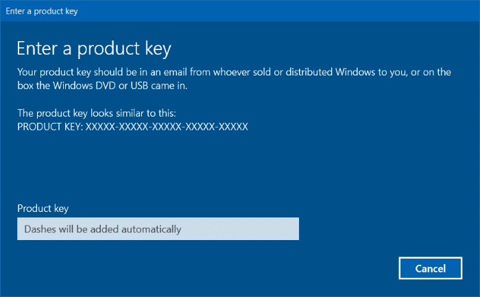 product key to upgrade to Windows 10 Pro edition