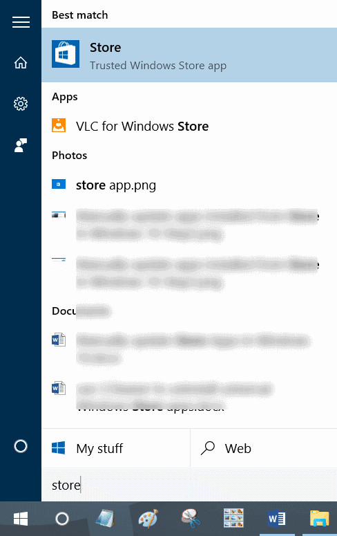 sign out of Windows Store app in Windows 10 step2