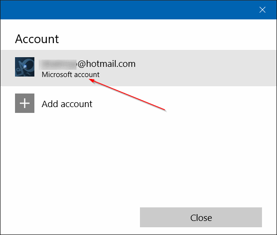 sign out of Windows Store app in Windows 10 step4