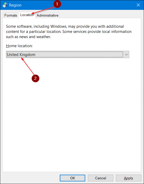Change Windows Store Country Or Location In Windows 10