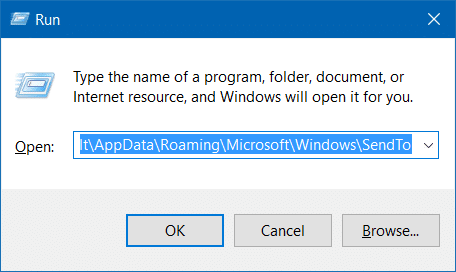 Compressed zipped folder missing from send to menu in Windows 10 step2