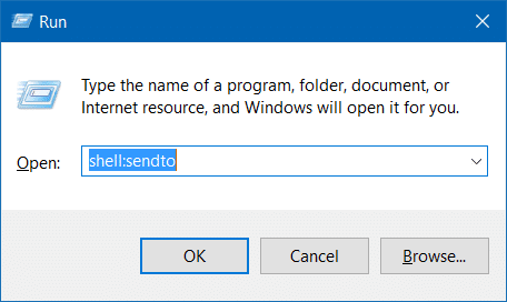 Compressed zipped folder missing from send to menu in Windows 10 step4