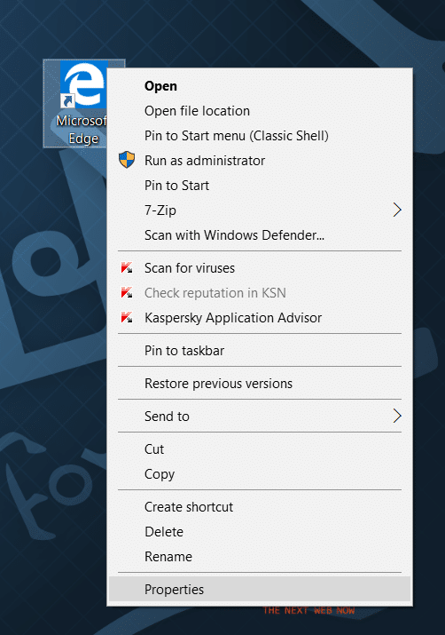 Create Microsoft Edge shortcut on desktop in Windows 10 step6