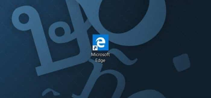Create Microsoft Edge shortcut on desktop in Windows 10