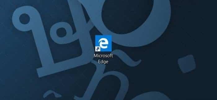 Create Microsoft Edge shortcut on desktop in Windows 10