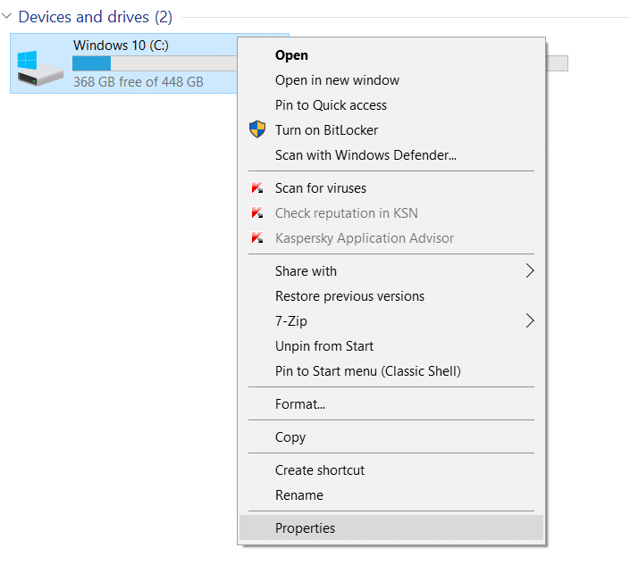 Move Installed Programs to another drive in Windows 10 step01