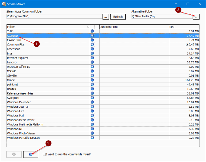 Move Installed Programs to another drive in Windows 10 step05