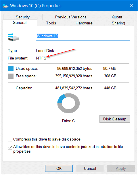 Move Installed Programs to another drive in Windows 10 step1