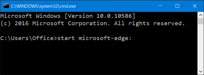 How To Open Microsoft Edge From Run Or Command Prompt