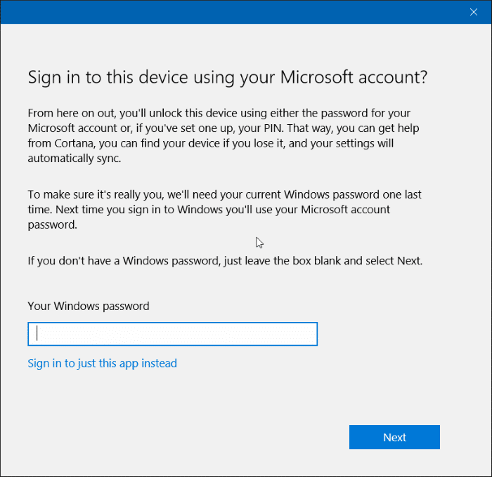 Sign in to Store with different account in Windows 10 step7