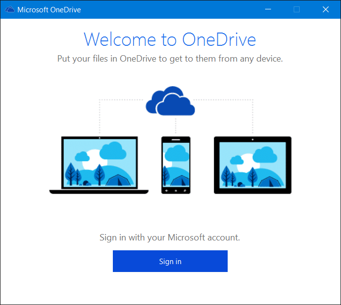 Sign out of OneDrive In Windows 10 Step5