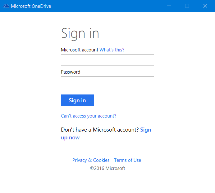 Sign out of OneDrive In Windows 10 Step6