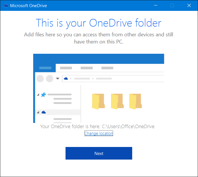 Sign out of OneDrive In Windows 10 Step7