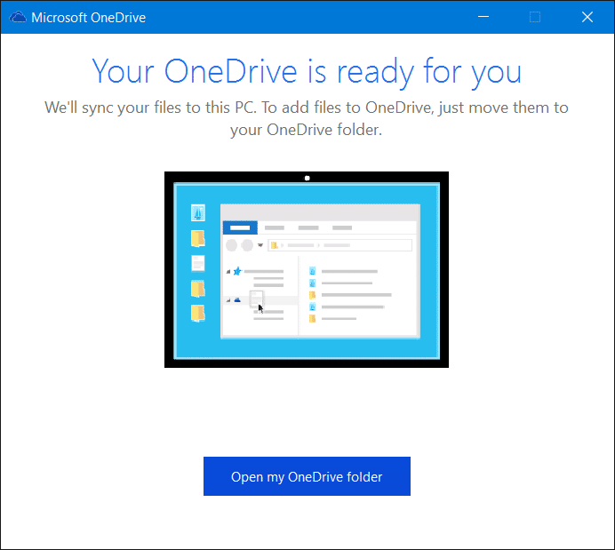 Sign out of OneDrive In Windows 10 Step9