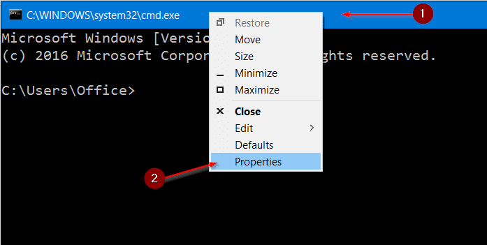 change command prompt background color in windows 10 step2