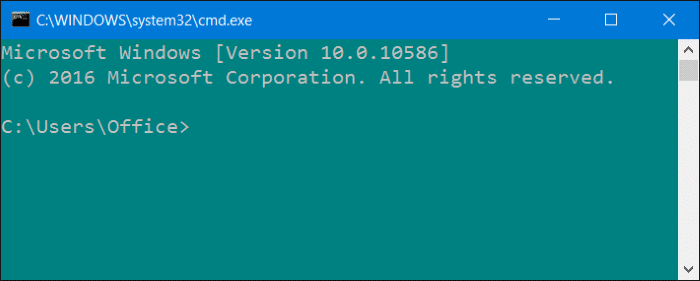 command for windows
