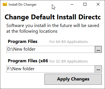 Change Default Install Location Of Programs In Windows 10