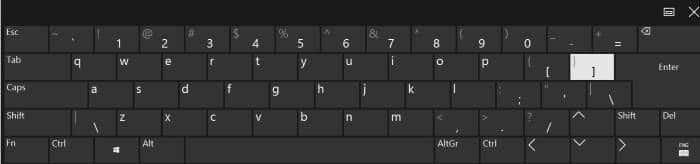 enable standard full keyboard layout in touch keyboard in Windows 10 pic2