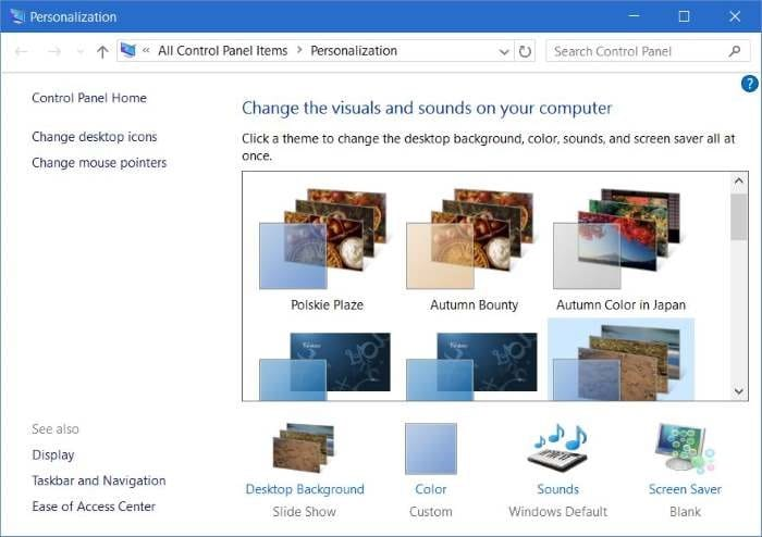 how to install or delete a theme in windows 10